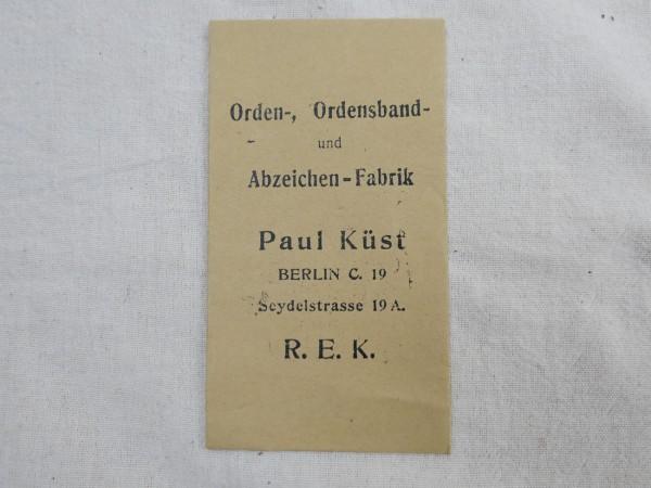 Verleihungstüte Paul Küst