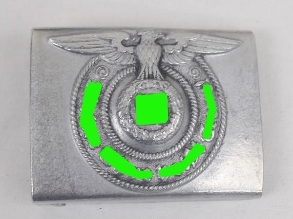 WSS Koppelschloß Waffen Elite Mannschaften Alu RZM MEhT 822/38