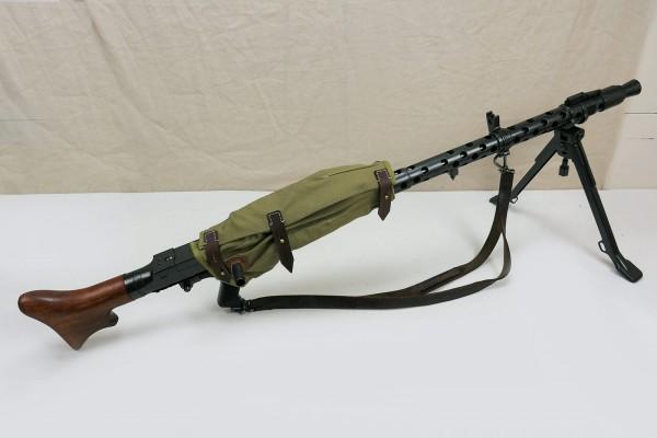 Wehrmacht Maschinengewehr MG34 Deko Modell Filmwaffe mit Systemschutz und Trageriemen