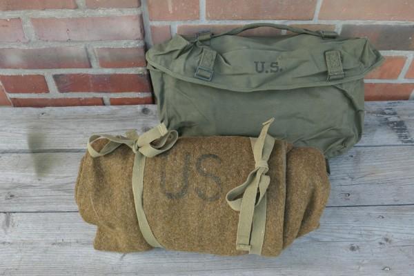 Original US Gepäck - Kampftasche Pack Field Cargo M-1945 mit WW2 US Schlafsack 1944 Wolle #1