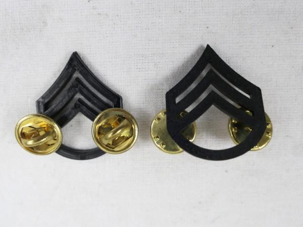 US ARMY Ranks Dienstgradabzeichen Kragen S/Sgt Staff Sergeant Uniform Rang Abzeichen Pin