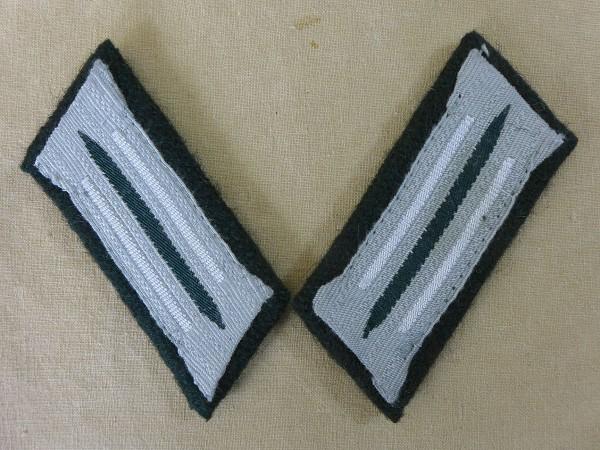 Wehrmacht Infanterie / Heer Kragenspiegel Mannschaften auf M36 Unterlage
