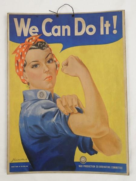 Werbe - Bild Plakat Poster Rekrutierung Frauen/ auf schwerem Karton - Pappe Vintage
