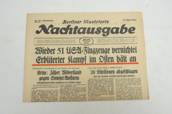 WK2 Tageszeitung Berliner Illustrierte Nachtausgabe Zeitung 13.April 1944