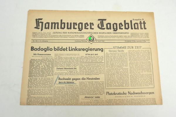 WK2 Tageszeitung Hamburger Tageblatt Zeitung 18.April 1944
