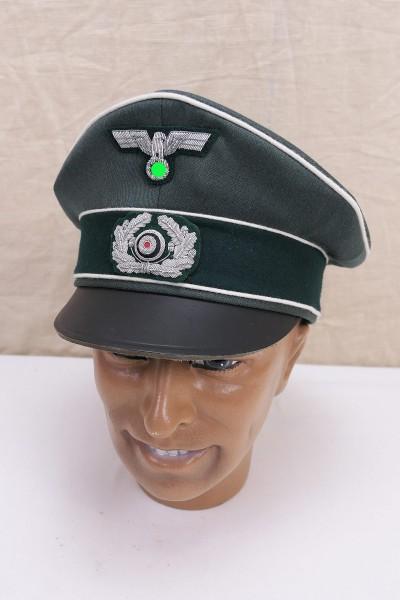 Wehrmacht Heeres Schirmmütze Offizier Infanterie Gabardine Gr.59