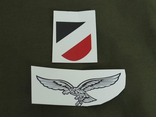 Luftwaffe Helmabzeichen / wasserlösliche Abziehbilder