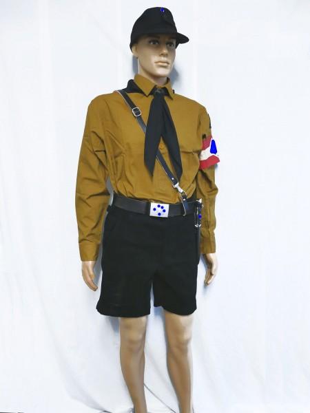 HJ Uniform Hitlerjugend Feldmütze Hemd Hose Koppel Leibriemen Messer Armbinde Halstuch Pimpf