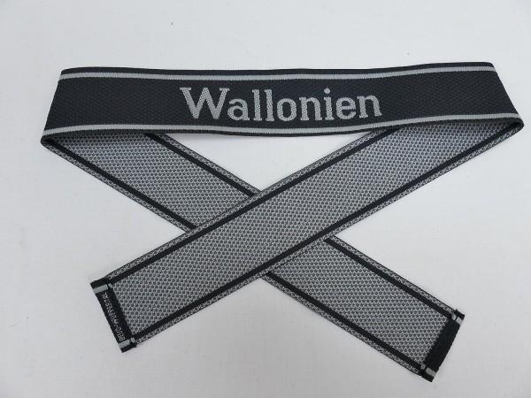 Wehrmacht Elite BEVO Ärmelband Freiwilligen Legion WALLONIEN Ärmelstreifen