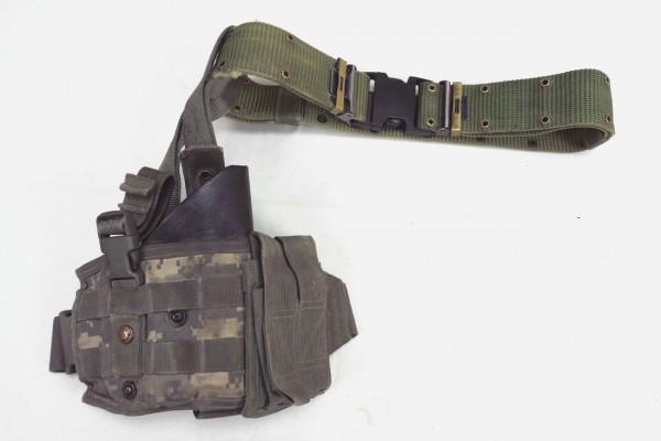 Original US Vapor Tactical Leg Holster SPEC OPS ACU VCP Beinholster + LC-2 Pistol Belt Lochkoppel