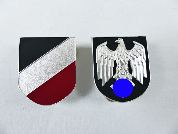 DAK Afrikakorps Tropenhelm Satz Abzeichen Heer an Schrauben Assmann