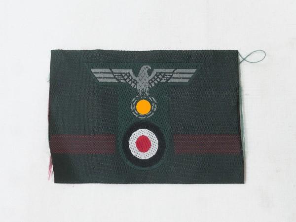 Wehrmacht Heer T-Mützenabzeichen Mützenadler T-Form gewebt Feldmütze