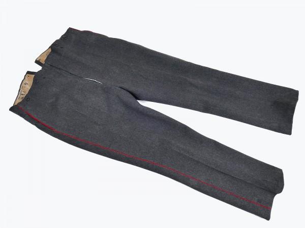 Preußen Feldhose Uniform steingrau Uniformhose mit roter Biese