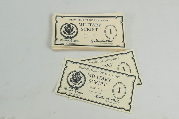 US WW2 Military Script War Hunter Payment / Wehrsold