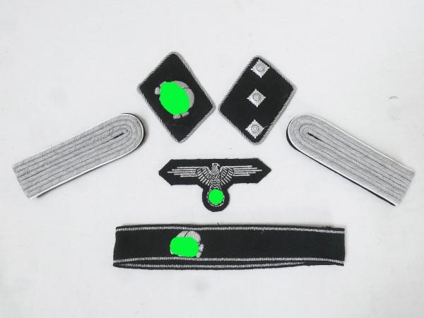 WSS Satz Effekten Abzeichen Waffen Elite Ärmelband Totenkopf Kragenspiegel für Untersturmführe
