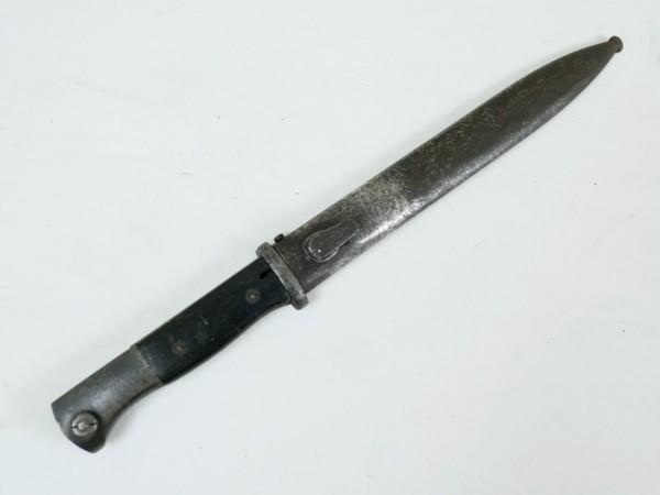 Original Wehrmacht Bajonett K98 mit Scheide / Seitengewehr gestempelt
