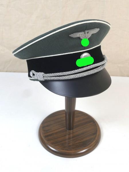 WSS Waffen Elite Offiziers Schirmmütze Gabardine mit Effekten Gr.60