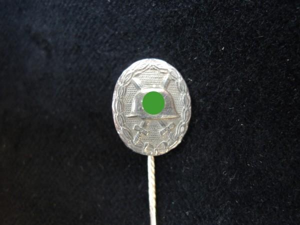 WH Miniatur Verwundetenabzeichen Silber Anstecker