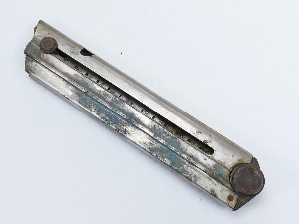 WK1 Original P08 Magazin 9mm mit Holzboden Nummer u. Hersteller