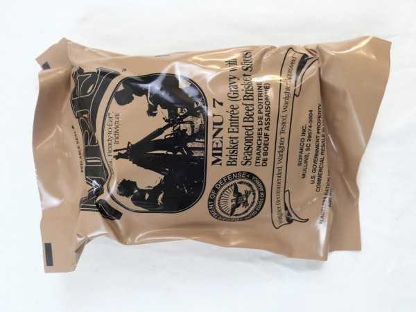 US Army MRE Menue 7 / Meal - Ready to eat Individual inspiziert bis 11/2019