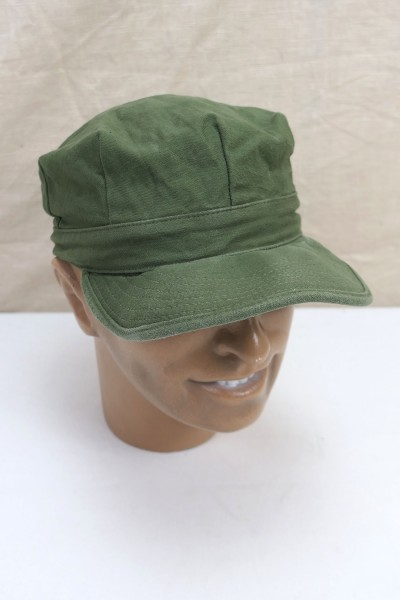 Original US Army Cap Utility Cotton Oliv Schirmmütze Korea Vietnam Size 7 - 1962