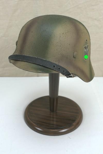 Stahlhelm Wehrmacht Heer Modell M35 Rauhtarn Tarnhelm Gr.57/58 #21