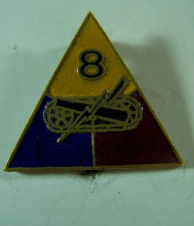 US Army 8th Armored Division Unit Crest