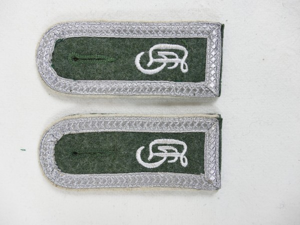Wehrmacht Paar Schulterklappen Großdeutschland GD Feldwebel für Feldbluse M40