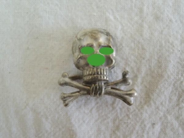 Mützen Abzeichen Traditions Totenkopf Braunschweig Husaren Regiment 17