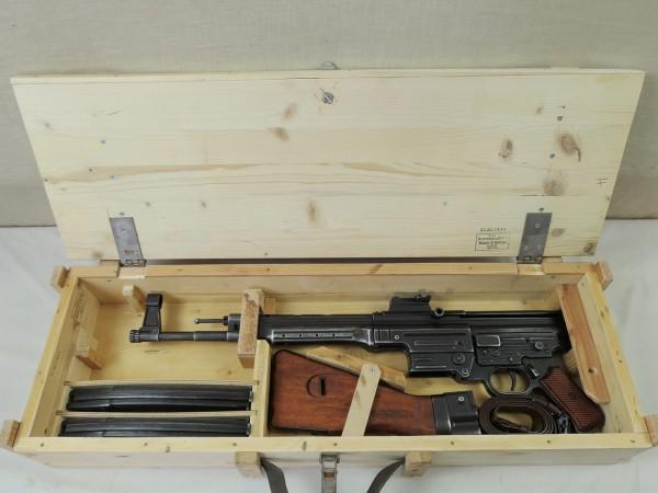 Wehrmacht MP44 Holzkiste Transportkiste Sturmgewehr StGw44 Holz Kiste WK2