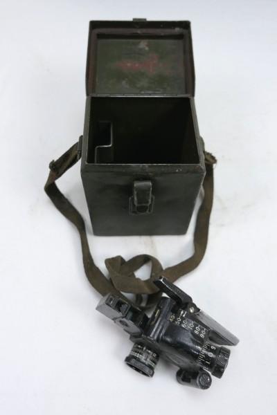 US ARMY WW2 M4 Sight 60mm Mortar & Carrying Case T42 Optik Mörser mit Behälter