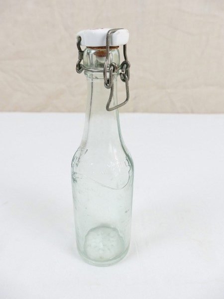 #C Original WW2 Glasflasche Bierflasche Carlsberg Flasche mit Bügelverschluss HK Sonnenrad