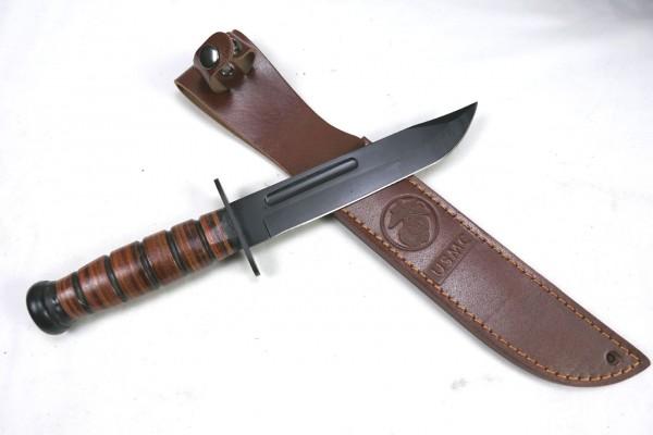 Kampfmesser USMC mit Lederscheide