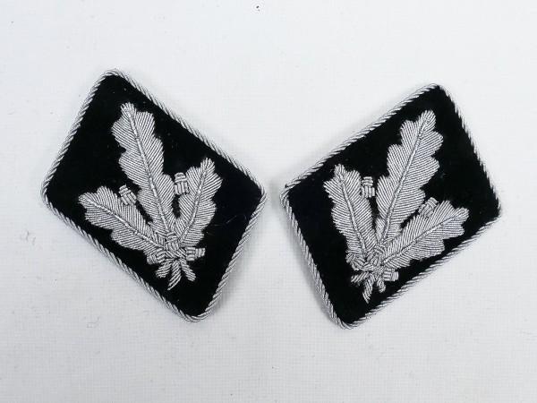 Paar WSS Dienstgradabzeichen / Kragenspiegel Brigadeführer / Generalmajor -flache Ausführung-