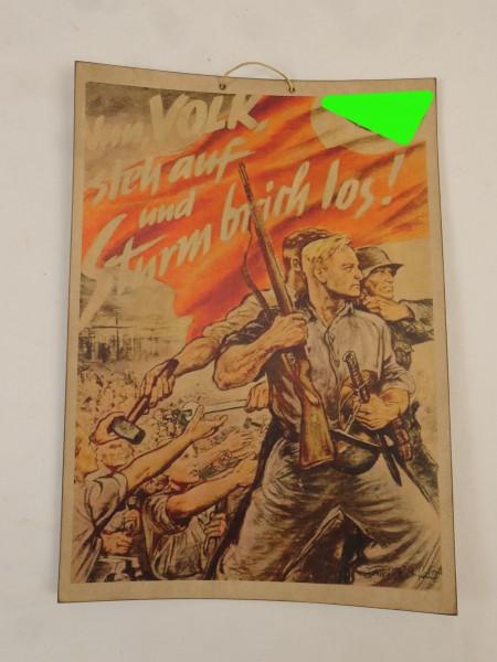 Bild Plakat Poster Volk steh auf und Sturm brich los