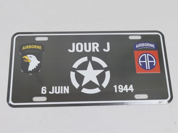 Blechschild / D-Day / Jour J / Airborne Schild 1944