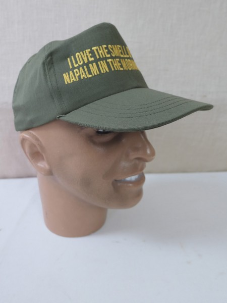 Original US Army Cap oliv Schirmmütze 1st Cavalry Size 7 - I love the smell of napalm in the morning
