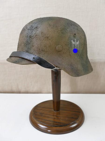 Wehrmacht Tarn Stahlhelm SD Rauhtarn 3color camouflage M35 M40 M42 Gr. 57/58