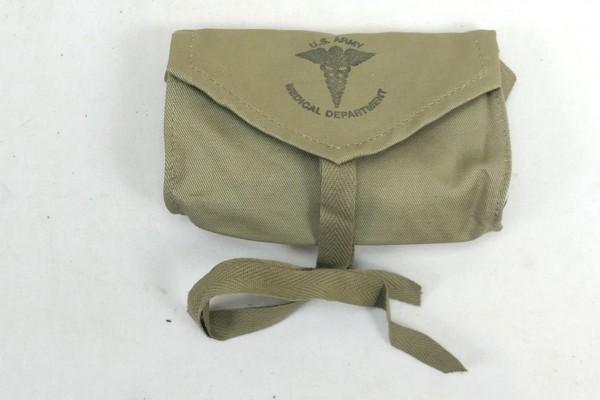 US Army WW2 Verbandspäckchen Tasche First Aid Medical Department Pouch Carrier Aesculap 1943