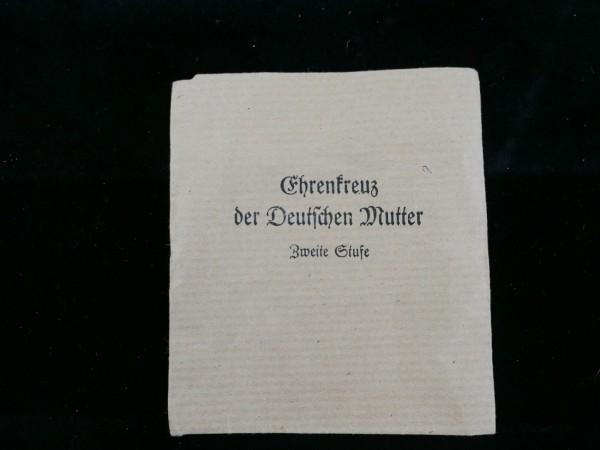 Wehrmacht Verleihungsumschlag für Ehrenkreuz der Deutschen Mutter Zweite Stufe