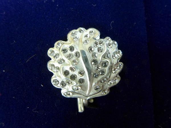 Eichenlaub EL 800er Silber L21 mit Brillanten zum Ritterkreuz RK Eisernes Kreuz mit Kragenband