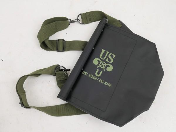 WW2 US ARMY M7 Assault Gas Mask Rubber bag Gasmaske Gasmaskentasche D-Day Normandy