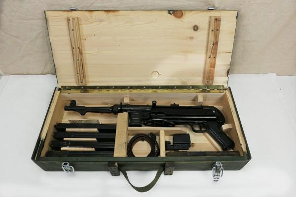 WK2 Wehrmacht MP38 MP40 Transportkiste Holzkiste Maschinenpistole Waffentransportkiste oliv