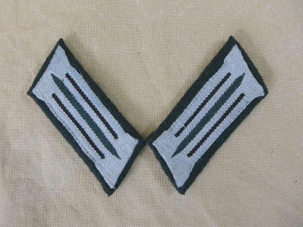 Wehrmacht Pionier Kragenspiegel Heer Mannschaften auf M36 Unterlage