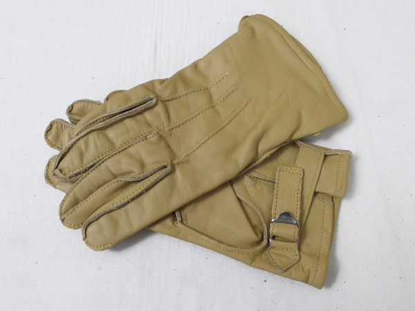 US WW2 Leather Gloves Paratrooper Fallschirmjäger Leder Handschuhe