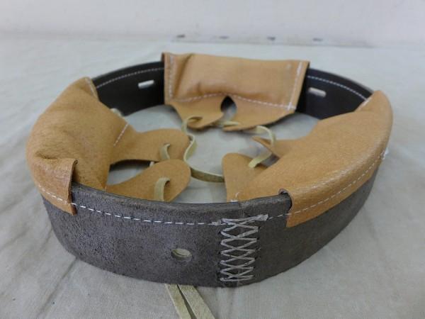 WK1 Stahlhelm Leder Futter Helmfutter M16 Liner Innenausstattung Hörnerhelm Helminnenfutter