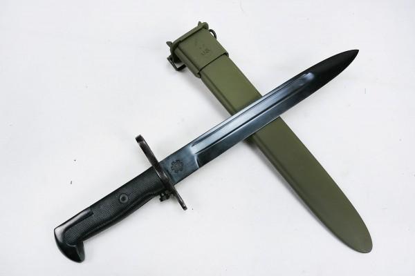 WWII Bajonett für M1 Garand Messer Kampfmesser mit Scheide oliv