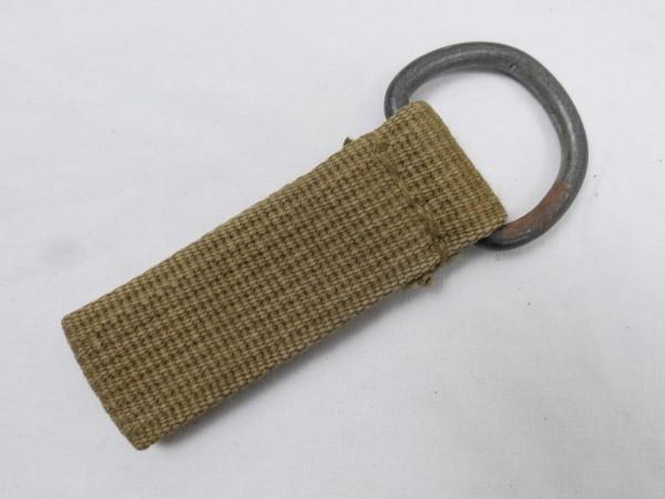Wehrmacht DAK Tropen Koppelschlaufe sandfarbend D-Ring Web Material Koppel / Y-Riemen #1
