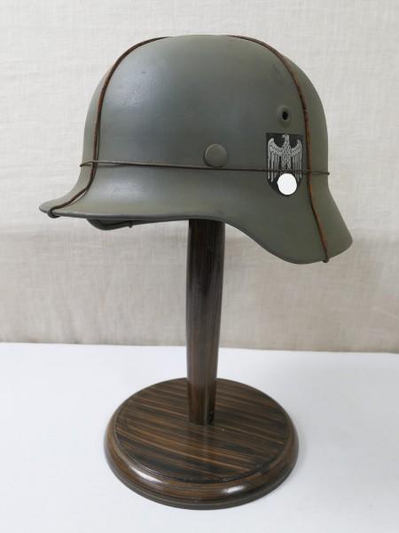 Wehrmacht M40 DD Stahlhelm SE62 Glocke feldgrau mit Innenausstattung Helmfutter