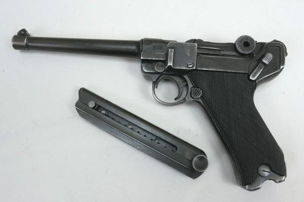 Pistole P08 Marine Deko Modell Antik Filmwaffe Denix